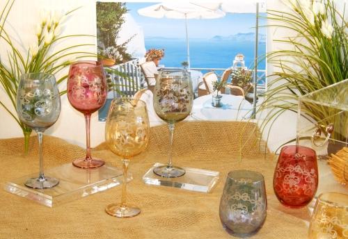 *Bicchieri colorati e Murano*