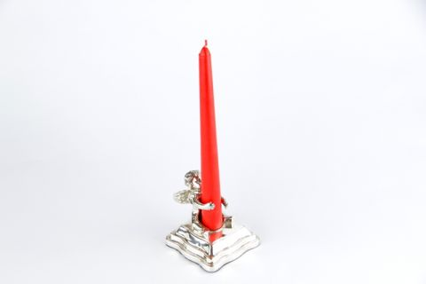 CANDELIERE ANGIOLETTO CON CANDELA, art. 0192200