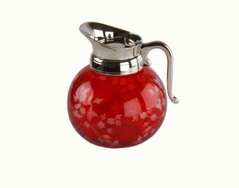 CARAFFA MOL.TO ROSSA C/MAN.COP., art. 0422900RED
