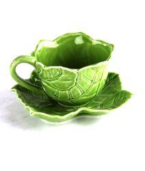 "TAZZINA ""FOGLIE""  CAFFE' VERDE, art. 0830120"