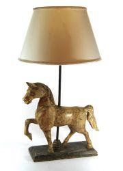 LAMPADA CAVALLO SCULTURA  IN LEGNO, art. 0552200