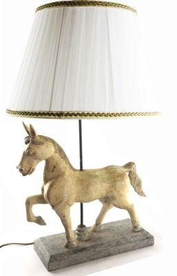 LAMPADA CAVALLO GRANDE SCULTURA  IN LEGNO CM, art. 0553000