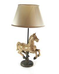 LAMPADA CAVALLO SCULTURA  IN LEGNO, art. 0552500