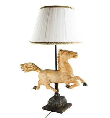 LAMPADA CAVALLO GRANDE SCULTURA  IN LEGNO CM, art. 0553200