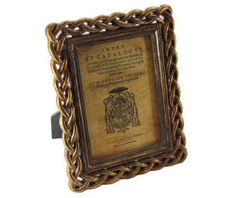 CORNICE RETTANG.TRECCIA CM 13X18  ORO VECCHIO, art. 0870019