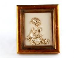 """FIORE"""" COLOR AVORIO CORNICE ORO, art. 0801200"""