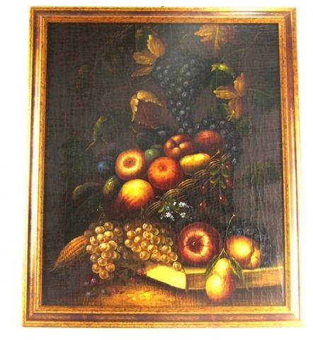 FIAMMINGO DIP. AD OLIO CON CORNICE 45X33, art. 0802016