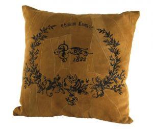 "CUSCINO  ""ENGLISH COTTAGE""  CM 40X40 COLORE CAMMELLO DEC. PARIS, art. 08570123"