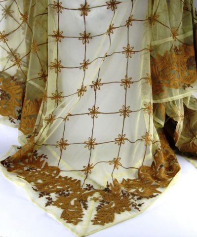 TOVAGLIA RICAMATA 190X190 CM. ORO CHIARO, art. 0860304