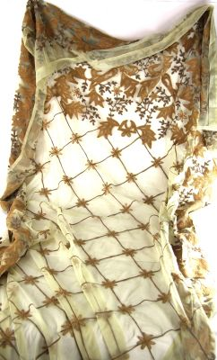 TENDA RICAMATA 120X320 CM. ORO CHIARO, art. 0860310