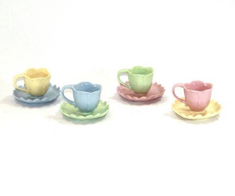 TAZZINE  CAFFE' 4 COLORI A FIORE, art. 9836001
