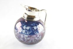 CARAFFA  MOL.TO A MANO DEC FLOREALE BLU, art. 0421100BLUE