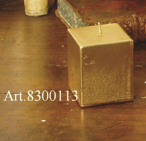 CANDELA RETTANGOLARE FOGLIA C/ORO, art. 8300113