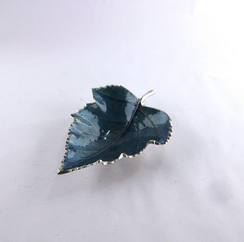 FOGLIA PLATANO AZZURRA IN LEGA LEGGERA CM 34X27, art. 9714204