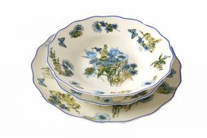 "SERVIZIO 18 PIATTI "" BLUE FLOWER "", art. 0721901"